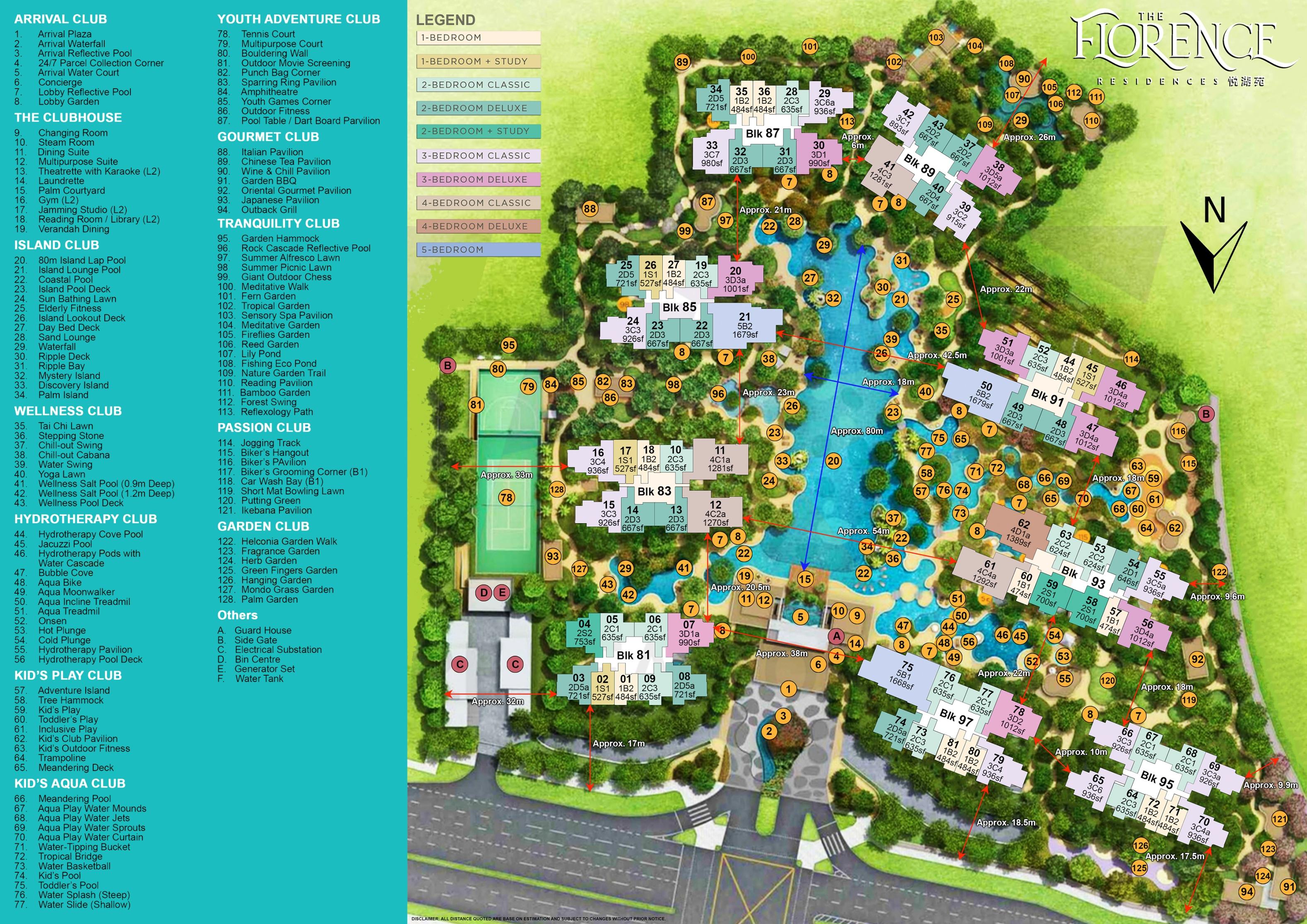 Florence Residences Site Plan