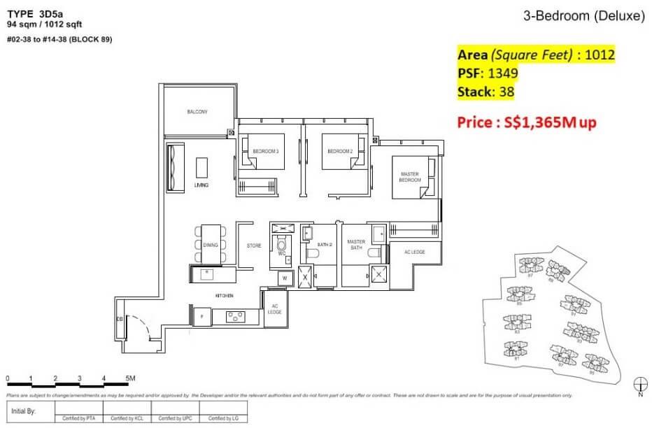Florence Residences Floor Plan 4 Bedroom + storeroom