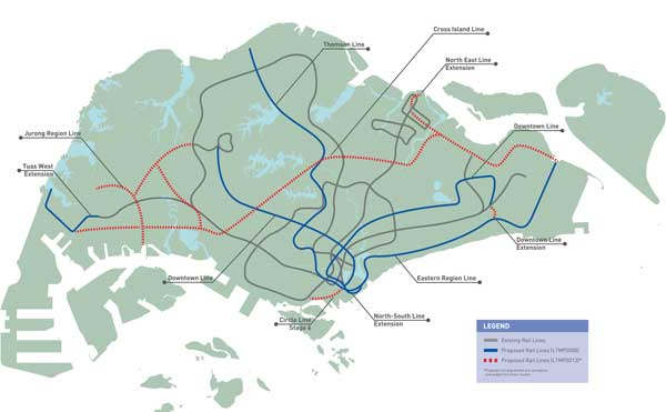 Cross island line and Jurong Region lIne