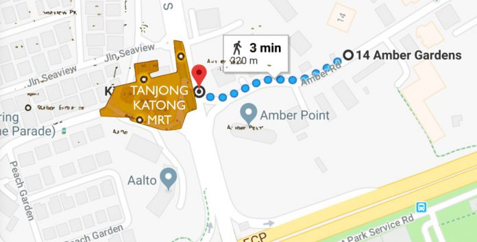 Amber Park- Less than 5 minutes walk to MRT Station