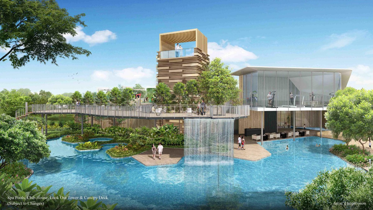rainforest pool- CDL developer of Piermont Grand