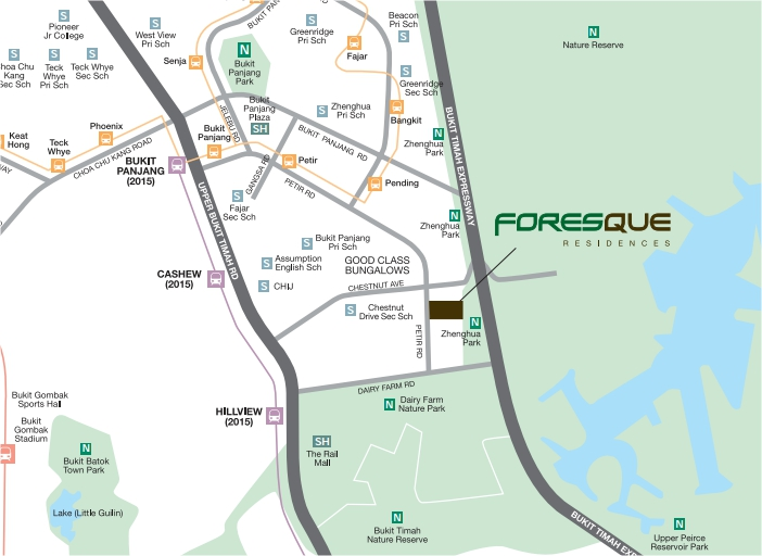 Condo- Foresque Residences Location Map