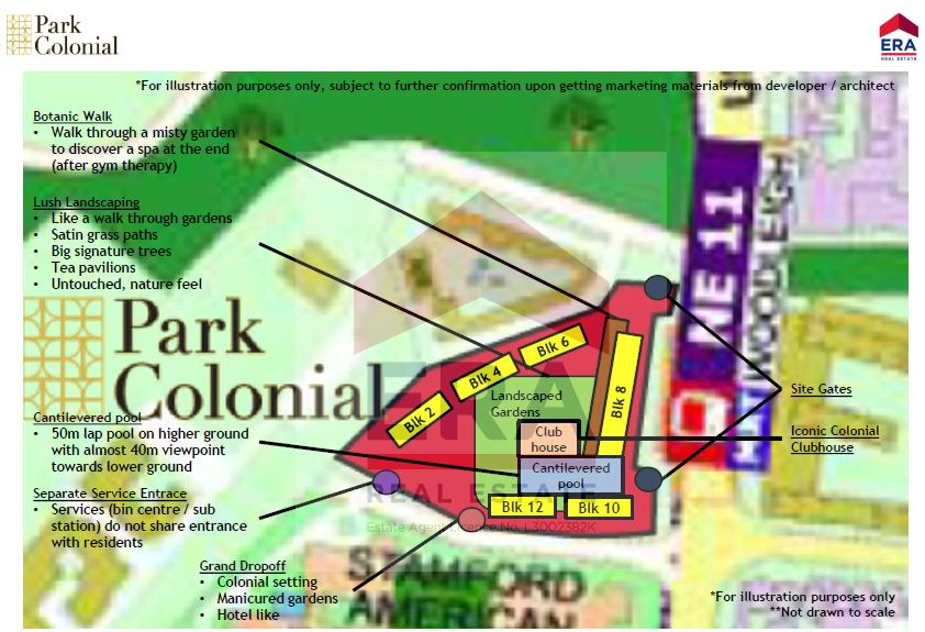 Park Colonial site plan with location
