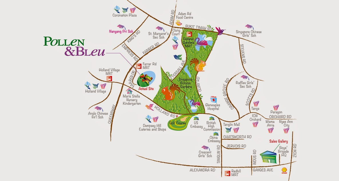 Condo- Pollen and Bleu location map