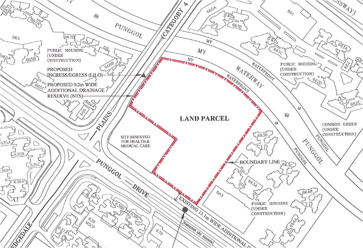 Land sold for EC in Punggol Drive