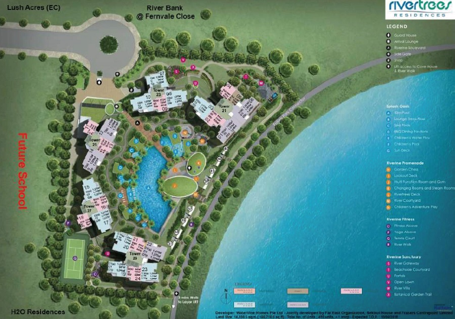 Condo- Rivertrees site plan