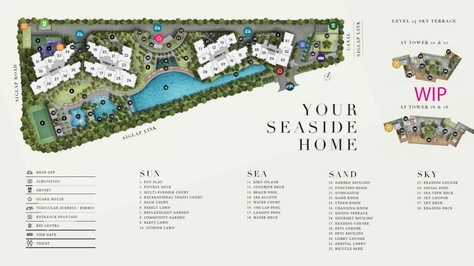 Seaside site plan