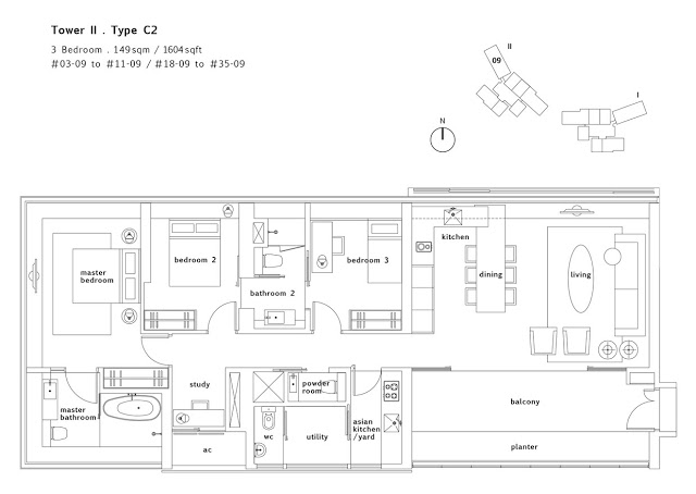 Condo- Twin Peaks 3 bedroom floor plans 2