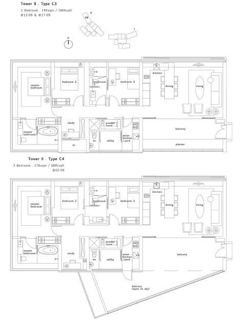 Condo- Twin Peaks 3 bedroom floor plans 3