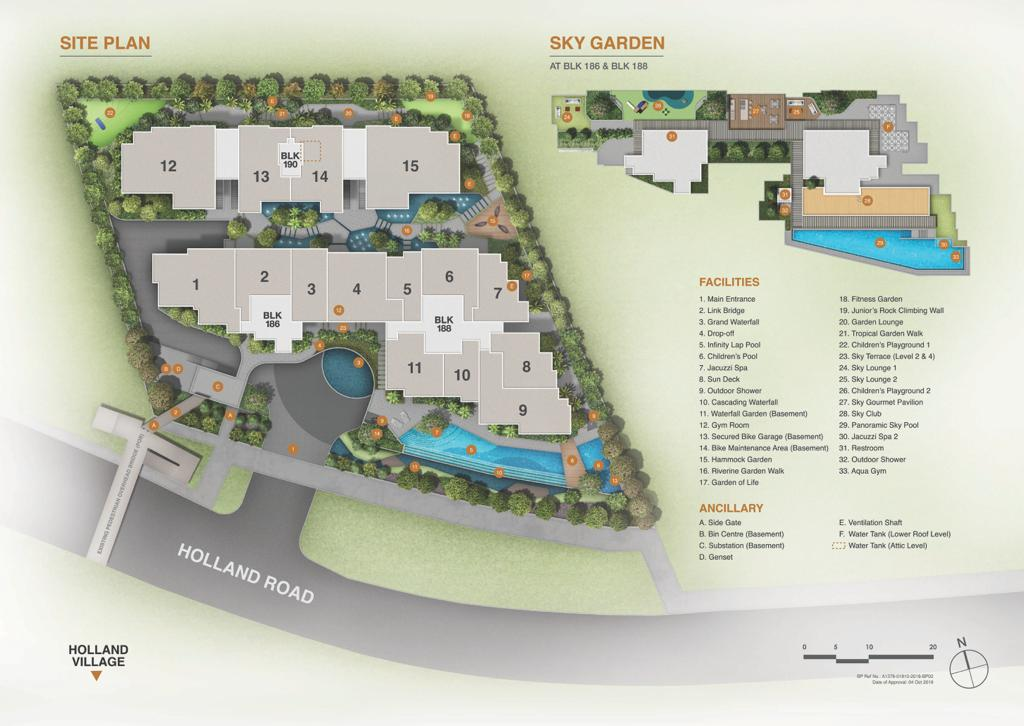 Van Holland site plan