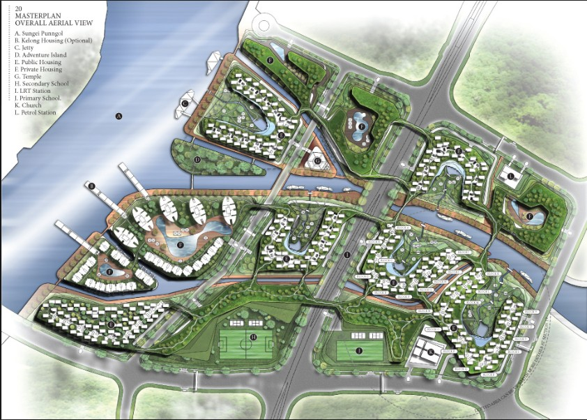 Punggol- master Plan Overall View