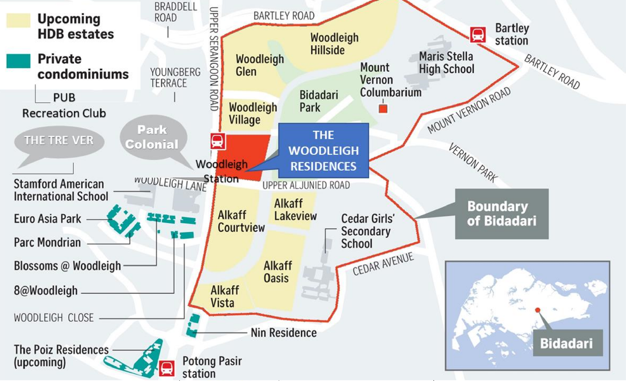 Woodleigh Residences location