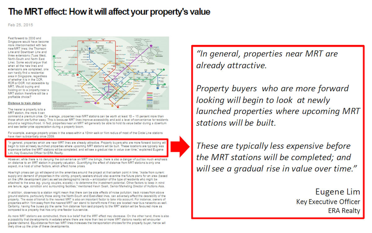 The MRT effect for properties