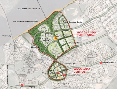 woodlands home map